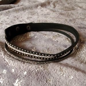 Black studded wrap bracelet
